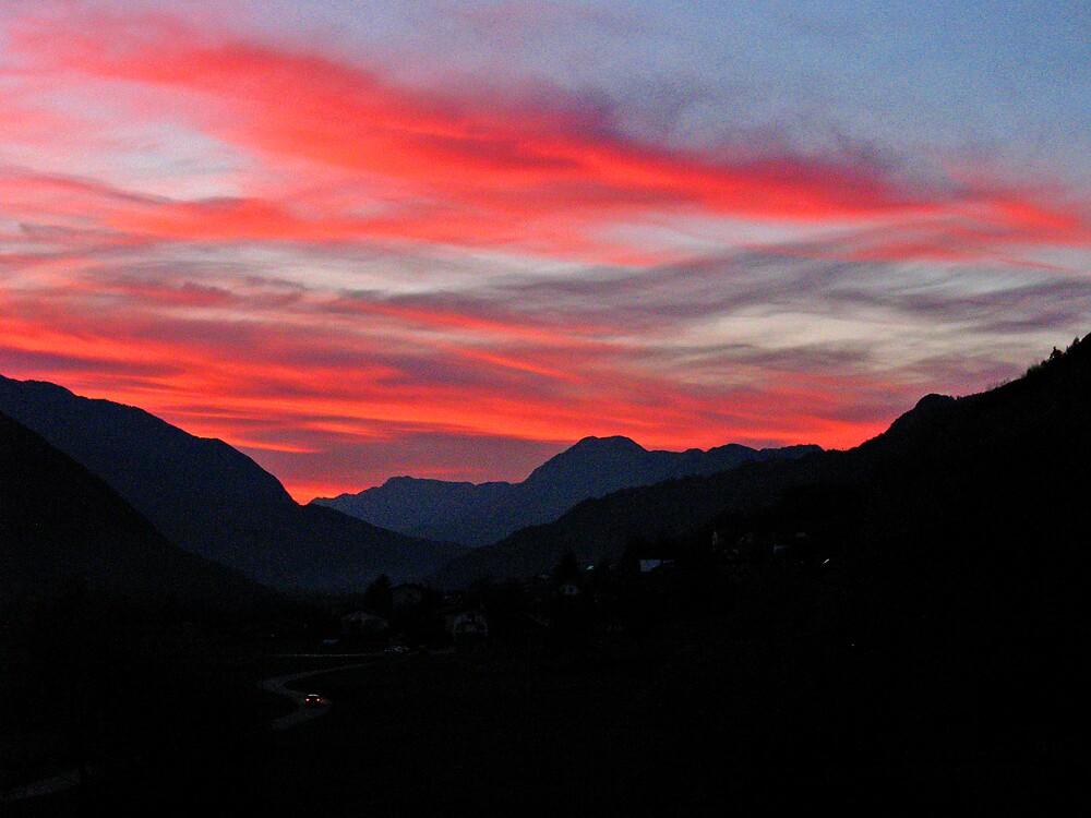 Sunset Over Soča Valley by Rok Cuder