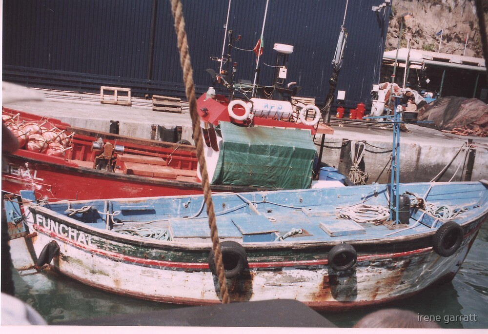 Fishing boats in Maderia by irene garratt