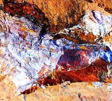Red Rock Abstract by Kathie Nichols