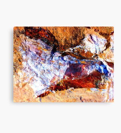 Red Rock Abstract Canvas Print