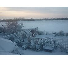 Snowy English Country Landscape Photographic Print