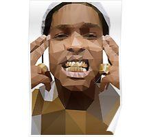 Low Poly ASAP Rocky Poster