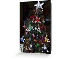 Power Rangers Christmas Tree Greeting Card