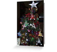 Power Rangers Christmas Tree Greeting Card