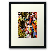 Pow-Wow Framed Print