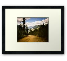 Canadian Lookout Road Framed Print