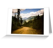 Canadian Lookout Road Greeting Card