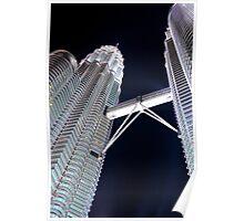Silver Glow at Night IV - Kuala Lumpur, Malaysia. Poster