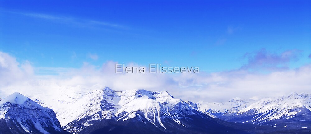 Snowy mountains by Elena Elisseeva