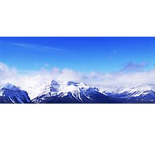 Snowy mountains Photographic Print