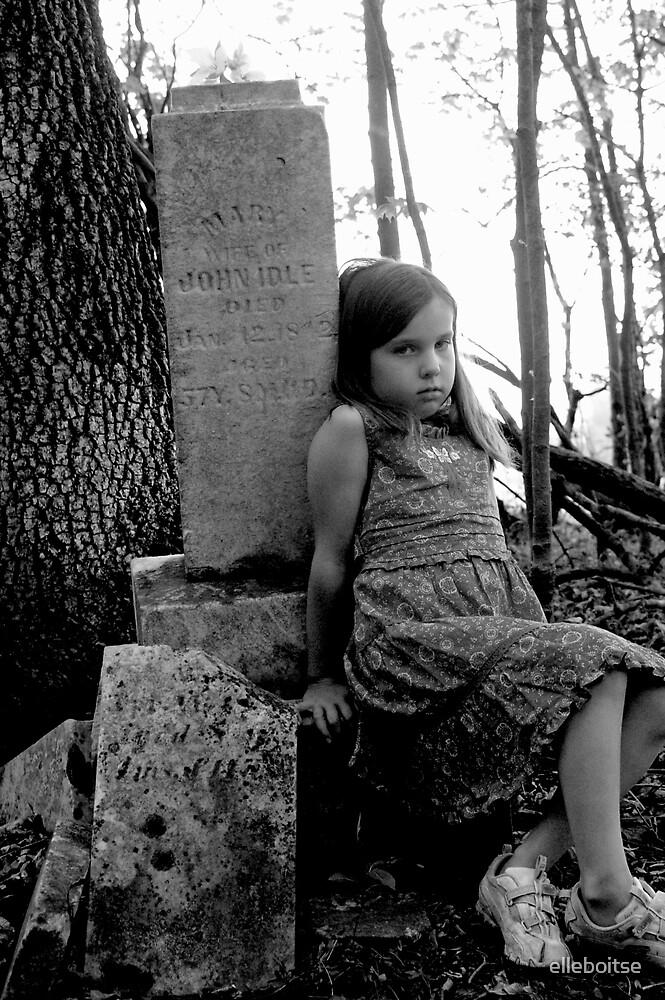 ally & the gravestone by elleboitse