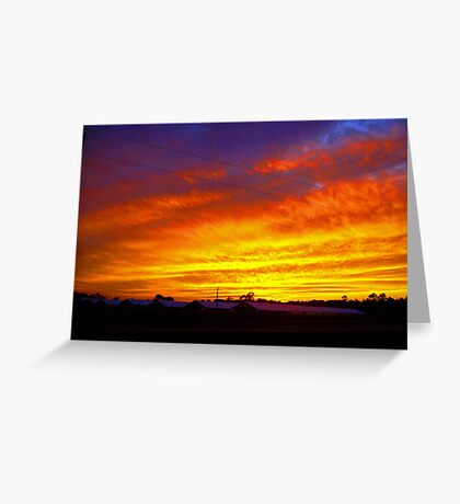 Turkey farm Sunset ( 2 ) Greeting Card