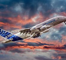 Airbus A380 - Sunset by © Steve H Clark Photography