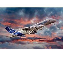 Airbus A380 - Sunset Photographic Print