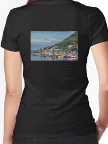 Fishing Harbour in Newfoundland, Canada Women's Fitted V-Neck T-Shirt
