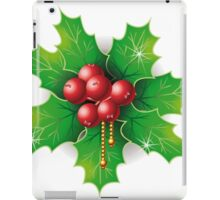 Holly Buxus Isolated on White iPad Case/Skin