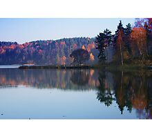 Silence in the autumn lake Photographic Print
