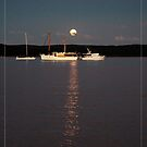 Peaceful mooring under the rising moon by Alexey Dubrovin