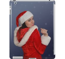 Beautiful young female  with Christmas gift iPad Case/Skin