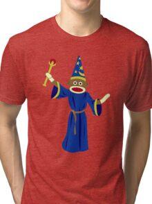 Sock Monkey Wizard Tri-blend T-Shirt