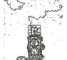 LINE : LINE camera 06 , Rolleiflex 2.8F model by LINEart