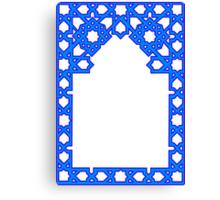 Blue Frame Canvas Print