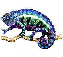 Colorful Chameleon by Carolyn  McFann
