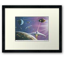 Asteroid Patrol 2050 Framed Print