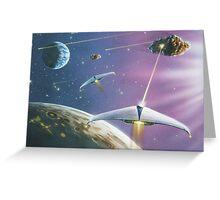 Asteroid Patrol 2050 Greeting Card