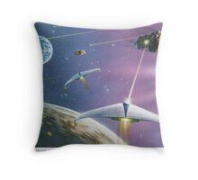 Asteroid Patrol 2050 Throw Pillow
