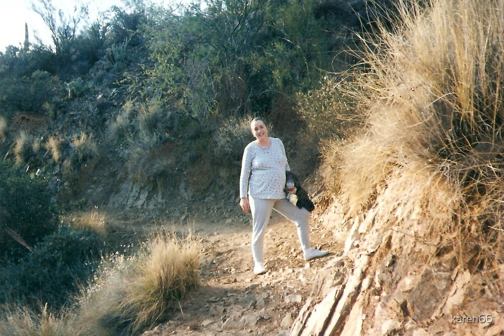 Karen Pregnant and Hiking in Arizona by karen66