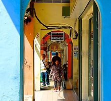 Colorful Arcades - Hong Kong. by Tiffany Lenoir