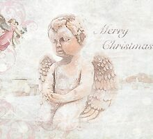 "The Littlest Angel ""Merry Christmas"" ~ Greeting Card by Susan Werby"