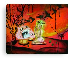 Angry Cupcakes Canvas Print
