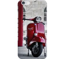 Red Vespa Scooter iPhone Case/Skin