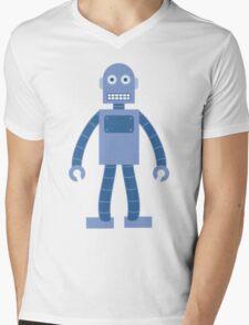 Basic Robot Mens V-Neck T-Shirt