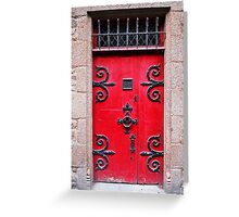 Red medieval door Greeting Card