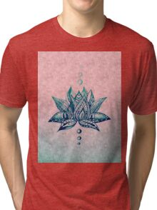 Intricate Lotus Tri-blend T-Shirt