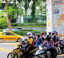 Street Riders - Kuala Lumpur, Malaysia. by Tiffany Lenoir