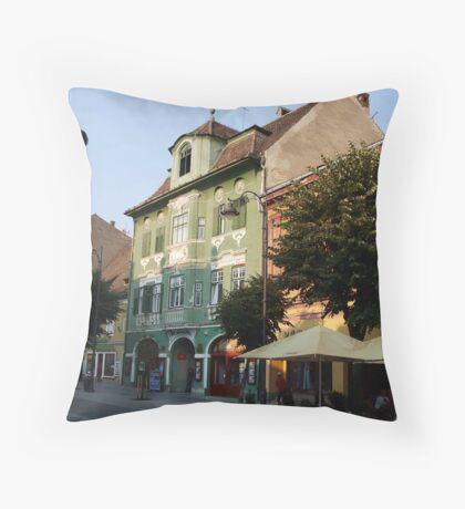 Sibiu Street Throw Pillow