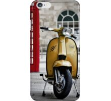 Yellow Lambretta GP iPhone Case/Skin