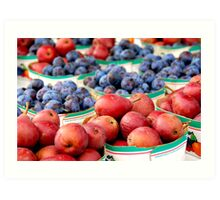 Fruits for sale Art Print