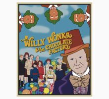 Willy Wonka and the Chocolate Factory Poster One Piece - Short Sleeve
