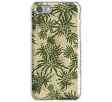 Pineapple Camo Hawaiian Aloha Shirt Print - Olive & Khaki iPhone Case/Skin