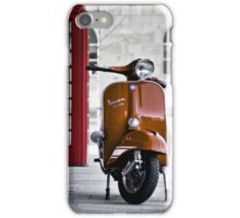 Italian Orange Vespa Rally 200 Scooter iPhone Case/Skin