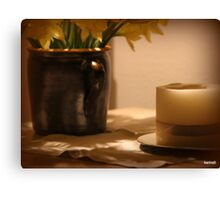 Still Life with Candle Canvas Print