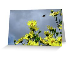 Stormy Flowers Greeting Card