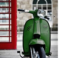 Italian Green Lambretta GP Scooter by AJ Airey