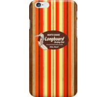 Pipeline Striped Hawaiian Faux Wood Surfboard - Orange and Yellow iPhone Case/Skin