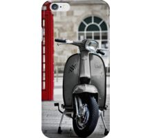 Italian Grey Lambretta GP Scooter iPhone Case/Skin